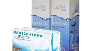 Lentillas Pack BAUSCH + LOMB ULTRA FOR ASTIGMATISM + LENS 55 CARE Hyaluronate 360 ml