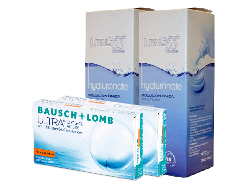 Lentillas Pack B+L ULTRA FOR ASTIGMATISM + LENS 55 CARE Hyaluronate 360 ml
